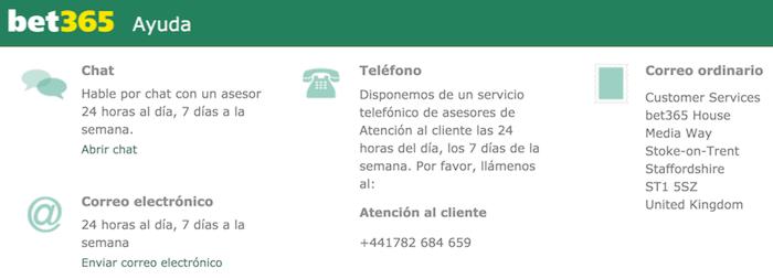 bet365 servicio de atención al cliente
