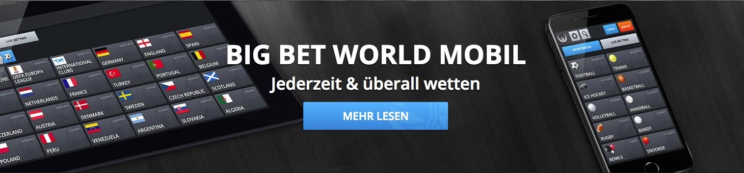 Big Bet World mobil