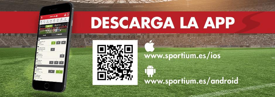 Descarga la APP de Sportium para IOS&Android