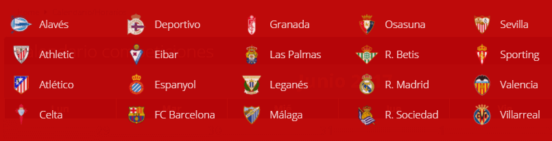 Apostar en la Liga española