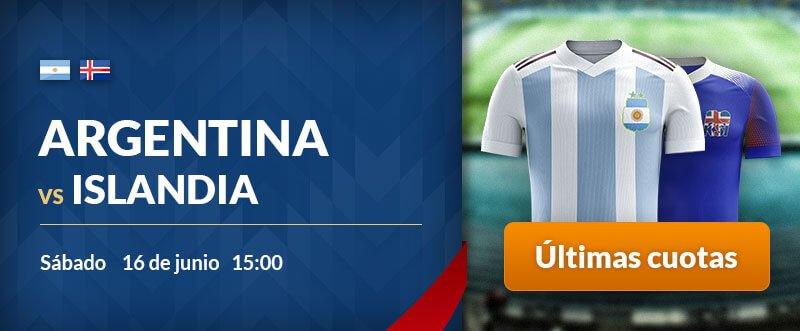 Apuestas para hoy Argentina-Islandia