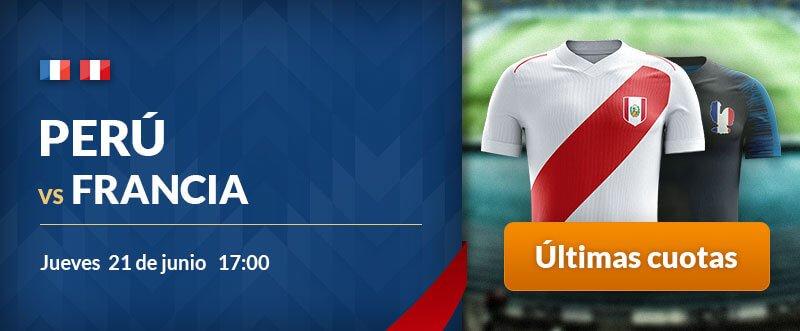 Apuestas gratis para hoy Francia-Perú