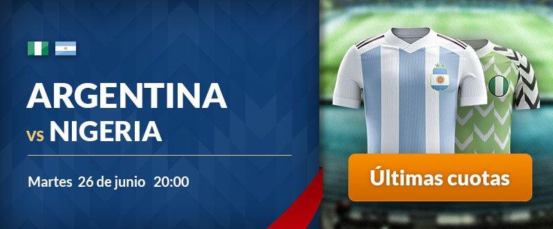 Apuestas para hoy Nigeria-Argentina