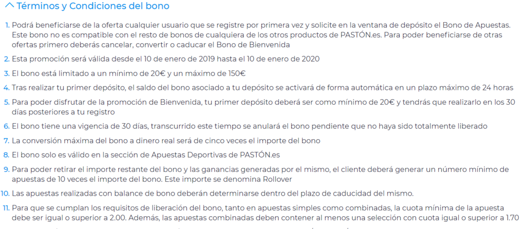 Bono paston