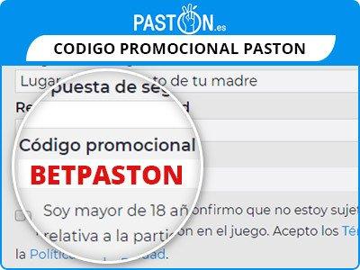 codigo promocional paston