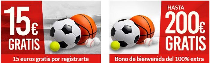 Bono de Bienvenida Deportes