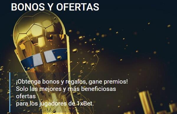 1xbet Bono de Bienvenida Deportes